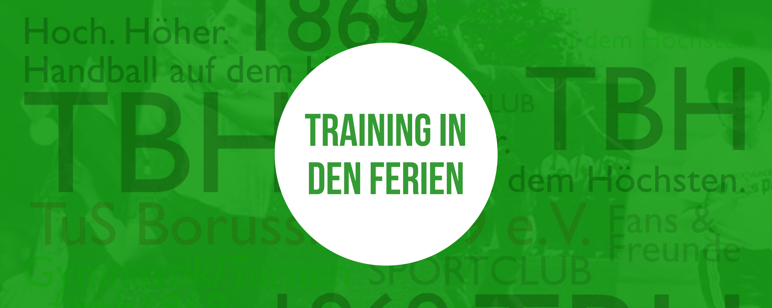 Banner zu Training in den Sommerferien