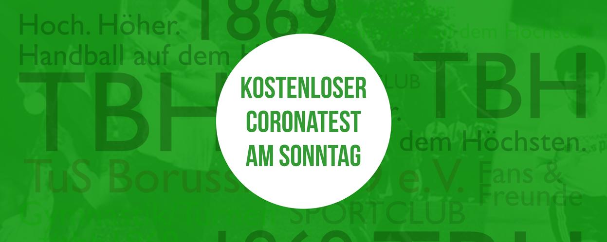 kostenloser Coronatest vor der Halle am 11.09.2021